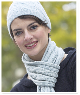 woman in hat and scarf